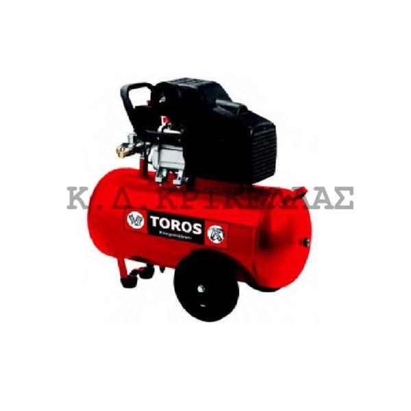 TOROS Αεροσυμπιεστής μονομπλόκ 50lt - 2.5 HP