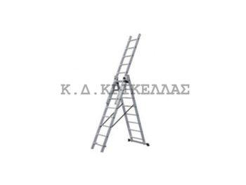 BULLE SSS12 Σκάλα Αλουμινίου Τριπλή Επεκτ. 36 Σκαλιά