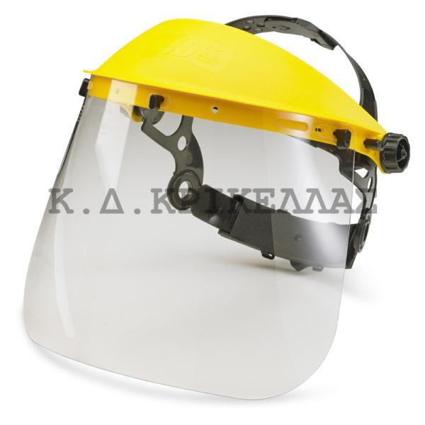 Plexiglass για καπέλο προστασίας θαμνοκοπτικού